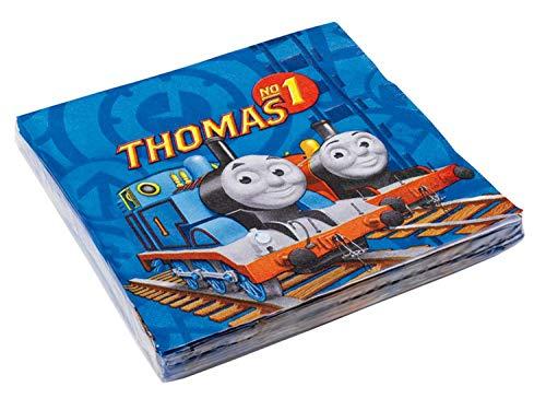 Amscan 552159 - Servietten Thomas und seine Freunde, 20 Stück, 33 x 33 cm, Tischdekoration, Party, Kindergeburtstag