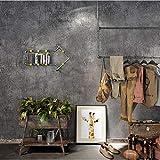 Ceniza de cemento gris liso Papel pintado industrial vintage sólido para decoración del hogar Paredes de hormigón imitación en relieve Rollos de papel de pared para tienda de tela(10m)