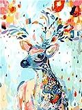 Animales en Canva pintura DIY por número cuadro lienzo colorear por número pintura al óleo pintura moderna decoración del hogar A5 45x60cm