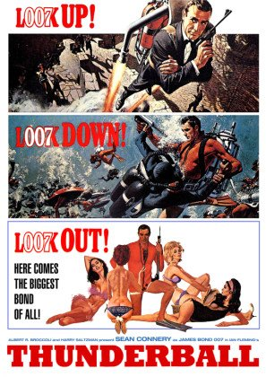 THUNDERBALL - James Bond - Sean Connery - US Imported Movie Wall Poster Print - 30CM X 43CM 007