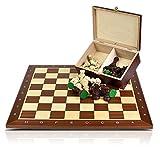 Profesional de Ajedrez Torneo 6 Tablero de ajedrez + Figuras Staunton 6