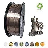 KEHUASHINA Filament PLA Silk 1,75 mm de diamètre pour imprimante 3D - Bobine de 1kg - Accessoire pour imprimante 3D, matériel d'impression 3D (Or rose profond)