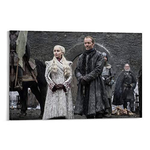 DRAGON VINES Juego de Tronos El Príncipe de Winterfell Pintura Lienzo Nieve Sala de Niñas 24x36inch(60x90cm)