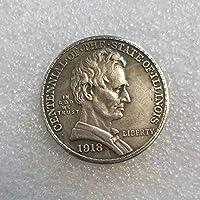 絶妙なコインアンティーク工芸品アメリカン1918リンカーンハーフコイン記念コイン#1593