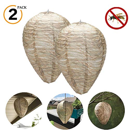Unigant Wasp Nest Decoy Hanging Wasps Repellent and Deterrent Natural Safe Non-Toxic Effective Eco-Friendly Decoy Repellent for Home and Garden Outdoors