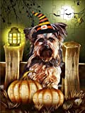 Promini Yorkshire Terrier Halloween Puzzle, Yorkie Halloween Puzzle, Yorkie Halloween Gifts 1000 Piece Jigsaw Puzzles Game Toys Gift , 20' x 30'