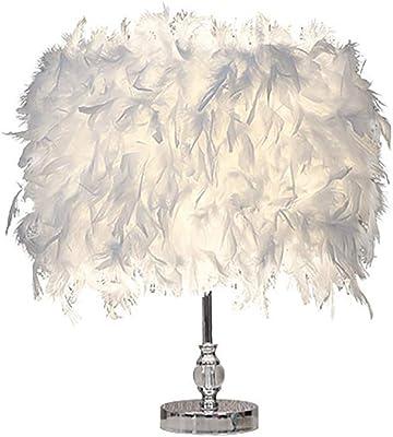 Lámpara de mesa de plumas, lámpara de escritorio de plumas ...