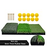Best Golf Practice Mats - Tri-Turf Golf Hitting Mat, Portable Golf Grass Mat Review