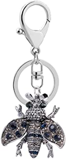 Sanwooden Cute Keychain Elegant Bee Shape Rhinestone Keychain Car Key Ring Women Handbag Pendant Decor Girl Fashion Accessories