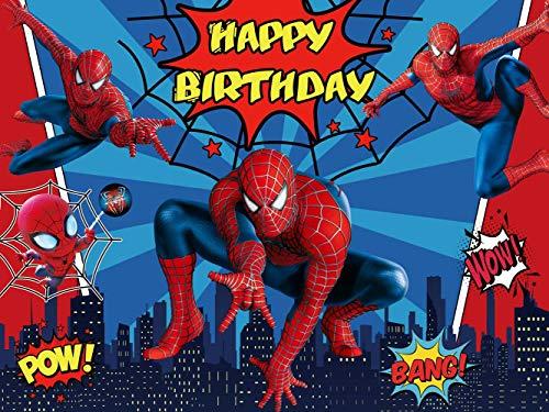 Spiderman Backdrop | Marvel | Birthday | Superhero | Boys | Party Supplies | Kids | Banner Photography Decorations