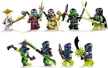 LEGO Ninjago - Set of 9 Minifigures (Lloyd, Nya, Cole, Battle Wu, Morro, Blade Master Bansha, Bow Master Soul Archer, Scyt...