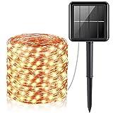 SHONCO Solar String Lights Outdoor, Solar Fairy Lights 65ft/20m 200 LED 8 Modes
