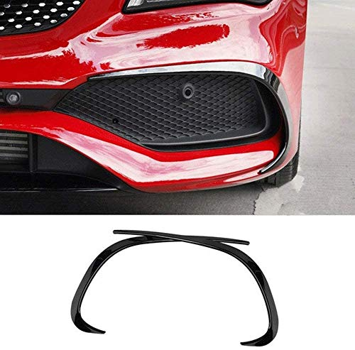 1PCS Fog Light Grille Car Styling Front Rear Bumper Spoiler Air Knife Covers Fit For Mercedes Benz CLA Class C117 Fog Lamp Grille Slats Stickers Mistlamp Grille voor (Color : Bottom 2pcs) Durable mate