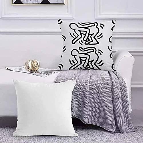 Federe Cuscini Decorativi Scimmia di Keith Haring Copricuscini Divano per Casa 45 x 45 cm