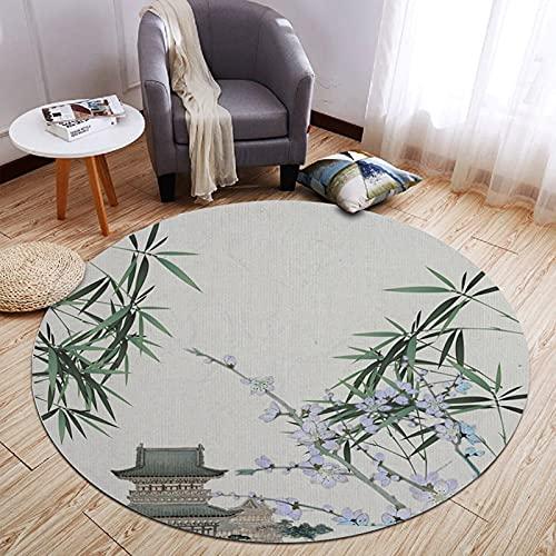 CMX-BOX Alfombras de área Tradicional 80cm 100cm 120cm 160cm Redonda para Sala de Manto Sala de Lectura Habitación doméstica Dormitorio para el hogar Cama Colgante Colgante Decoración de Piso Mat