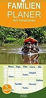 Am Amazonas - Familienplaner hoch (Wandkalender 2022 , 21 cm x 45 cm, hoch): Natur, Kultur und Abenteuer im Dschungel und am Riesenfluss (Monatskalender, 14 Seiten )
