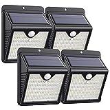 Solar Lights Outdoor [150 LED / 4 Pack ], Solar Motion Sensor Lights