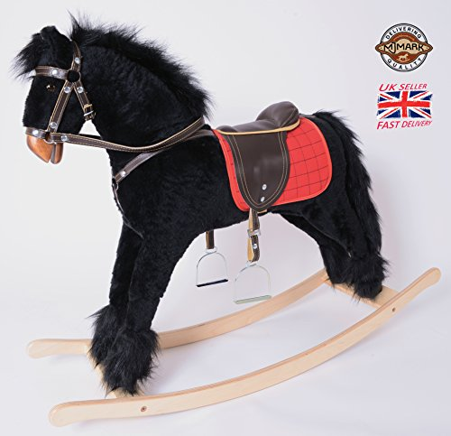 MJmark BLACK Handmade Rocking Horse Titan VII from