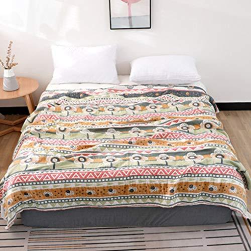 Manta de algodón Puro algodón Dormir en la Oficina Doble Aire Acondicionado (Color : Pillow B, Talla : 200×230cm)