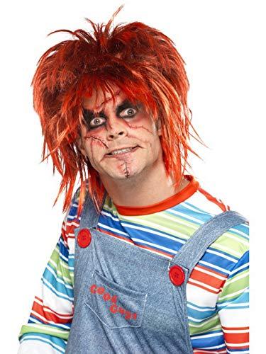 Faschingsfete – Accesorios de Disfraz Chucky Make Up Maquillaje Set con Pincel y Pegatinas, Carnaval, Carnaval y Fastnacht