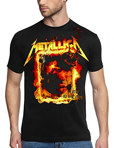 Coole-Fun-T-Shirts Metallica T-Shirt Jump in The Fire, Schwarz, GR.XL
