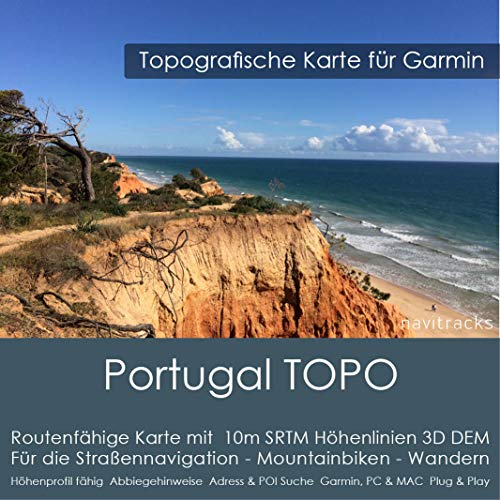 Portugal Garmin Carte TOPO 4 Go microSD – GPS PC & Mac v2021