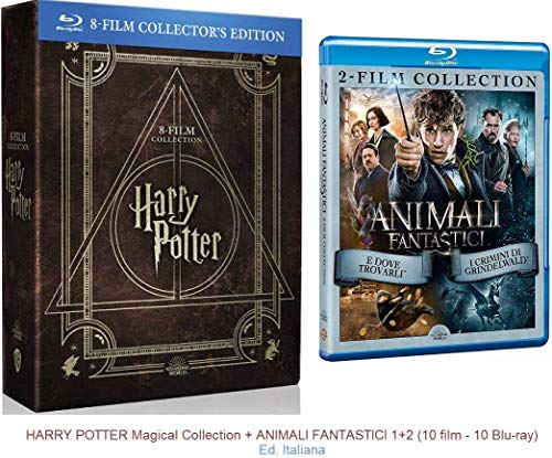 HARRY POTTER Magical Collection + ANIMALI FANTASTICI 1+2 (10 film - 10 Blu-ray)