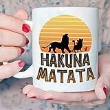 N\A Il Re Leone Hakuna Matata Tazza con Frase Swahili Ceramica Bianca (11 Oz)