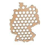 Dekoradoo - Deutschland Bierkarte aus Holz | Kronkorkenkarte | Lustige & Witzige Bier Geschenk-Idee...