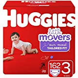 Huggies Little Movers Baby Diapers, Size 3, 162 Ct, One Month Supply