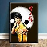MXIBUN Cartel e Impresiones Actor de películas Bruce Lee Chinese Star Cuadro de Arte de Pared Lienzo Pintura Regalo sin Marco 50 * 70 cm