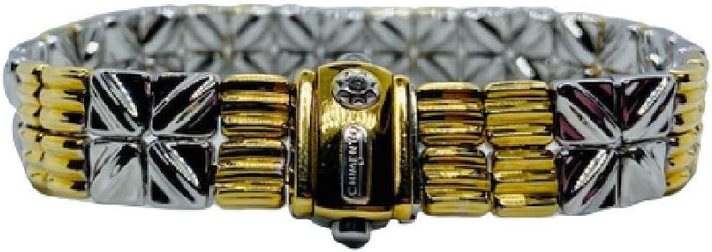 Chimento,bracciale per donna in oro bianco e giallo18kt(31,21 gr) e diamante 0,06 ct 1B02271ZBB195