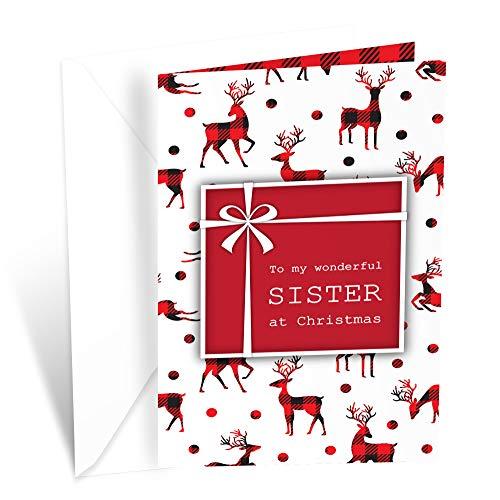 Prime Greetings Christmas Card For Sister