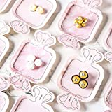 Wedding Paper Plates 7Inch Diamond Pattern...