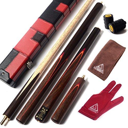 CUESOUL 57'Artigianato 3/4 snodato Palissandro Snooker Cue con Cue Estensione Extra 50 Centimetri Rosewood D415