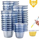 Heatoe 200 Packs 40ml Plastic Urine Cups Specimen Cups Containers Ovulation Cups PH Pregnancy Urine Test Cups Sample Collection Cups Pee Cups For Testing Ketones Cups Disposable