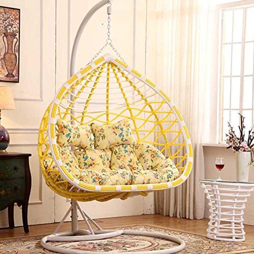 CHENG Colgante Huevo Hamaca Silla Cojines Sin Soporte, Desmontable Blando Confort Muebles de Dormitorio Sillon Colgante