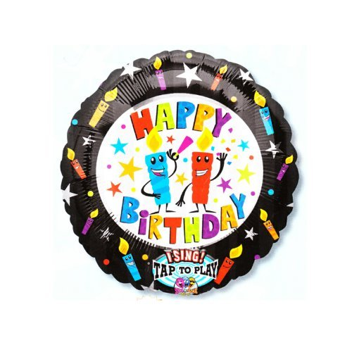 Amazing Deal Happy Birthday Candles Singing Balloons, 28in., Pkg/6