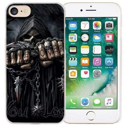 The Case beschermhoes voor iPhone 6 en 6S, harde schaal, doodskop, skelet, doodskop, game over