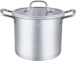 HLJ Sopa de Olla Cacerola Antiadherente de Acero Inoxidable 304 Doble la Parte Inferior Profunda Cocina Hogar Sopa de Olla 28cm 26cm