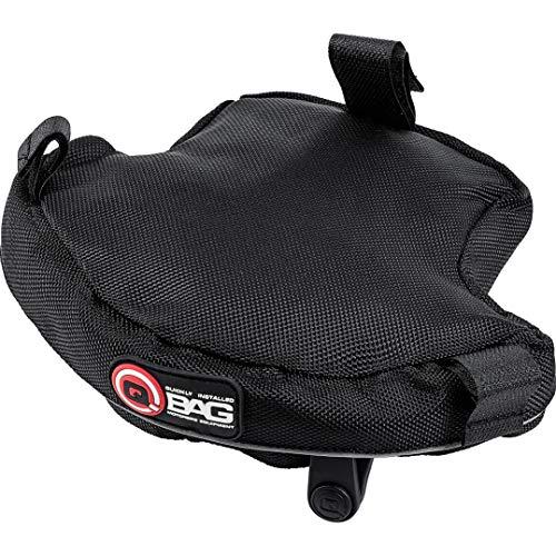 QBag Hecktasche Motorrad Motorradtasche Gepäckträgertasche für BMW R 1200 GS LC 2013, wasserabweisend, reflektierende Keder, gepolsterte Unterseite, Schwarz, 1,2 Liter