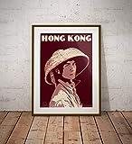AZSTEEL Vintage Poster Hong Kong Fisherman Portrait |