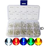 ARCELI Kit di assortimento di diodi emettitori di luci LED 3mm e 5mm per Arduino Bianco Br...