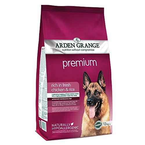 Arden Grange Alimento seco para Perros Premium para Adultos Rico en Pollo Fresco y arroz, 12 kg ✅