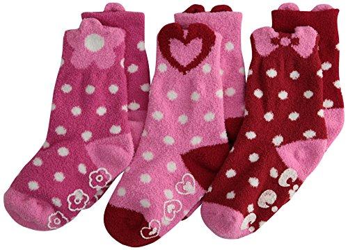Jefferies Socks Big Girls Slipper Socken Triple Treat (3 Stück) - - X-Small