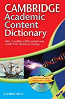 Cambridge Academic Content Dictionary Reference Book with CD-ROM (Dictionary & CD Rom)