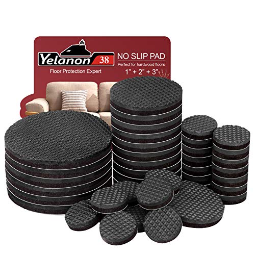 """Non Slip Furniture Pads -38pcs(1+2+3)"""" Furniture Grippers, Non Skid for Furniture Legs,Self Adhesive Rubber Feet Furniture Feet,Anti Slide Furniture Hardwood Floor Protector for Keep Couch Stoppers"""