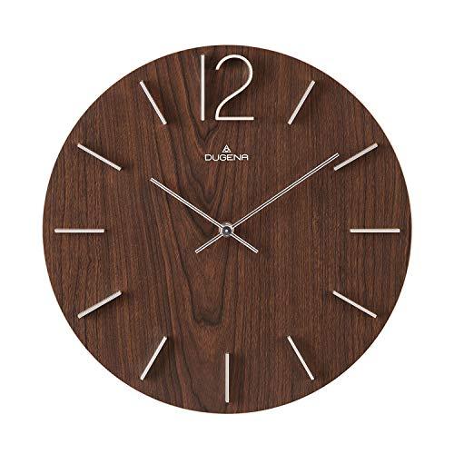 Dugena Reloj de Pared, Madera, marrón Oscuro, 30,5 cm