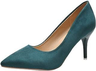 LEvifun scarpe col Tacco a Punta Mary Jane Scarpe Donna Casual Eleganti in Pelle Colore Solido Sandalo Ballerine Shoes da Fest Scarpe Tacco Alto Estive Partito 35-43