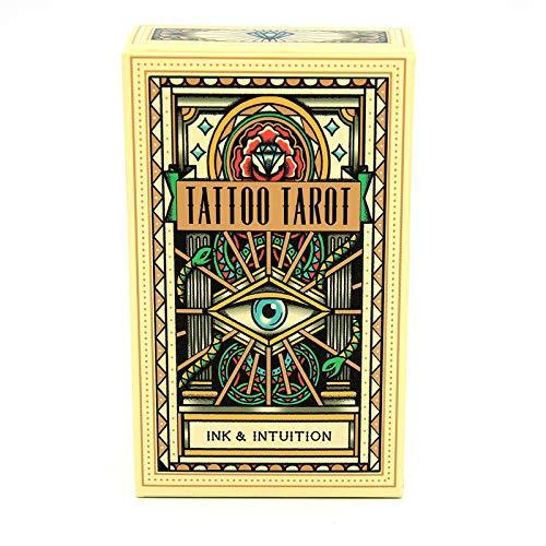 Xin Hai Yuan Tarotkarten Vintage Tattoo Tarot Tragbares Geschenk Brettspiel Für Familienfeier